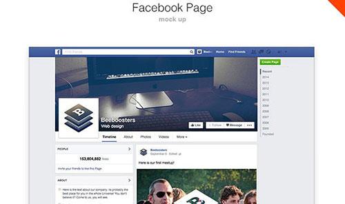 facebook-page-mockup 网页模板