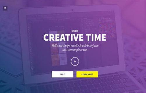 creative-time 网页模板