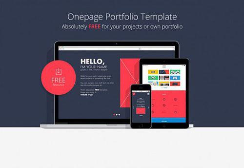 hello-onepage 网页模板