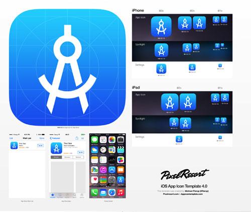 iOS 8 icon 模板
