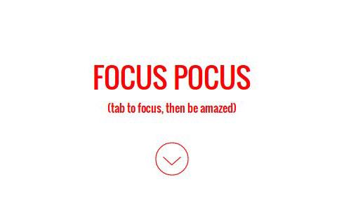 focus pocus button