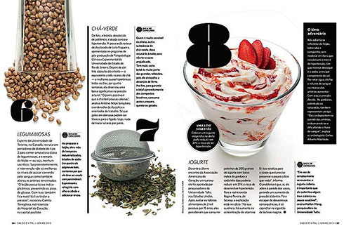 杂志排版灵感:Saude Magazine