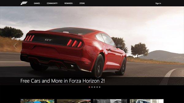 Forza Horizon 2 网页设计欣赏