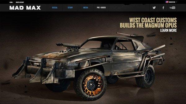 Mad Max 网页设计欣赏