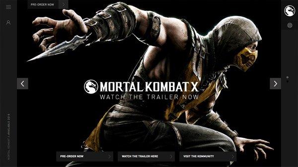 Mortal Kombat 网页设计欣赏