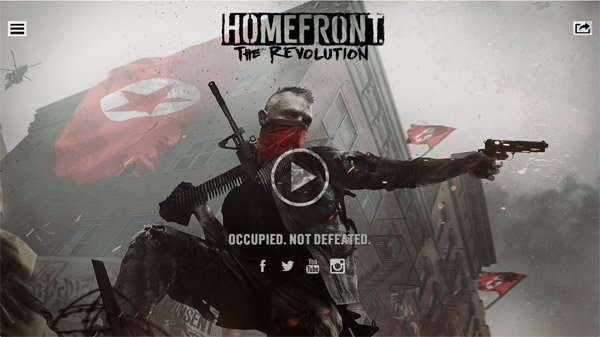 Homefront: The Revolution 网页设计欣赏
