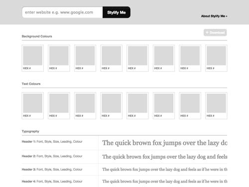 网站风格指南在线生成工具 – Stylify Me