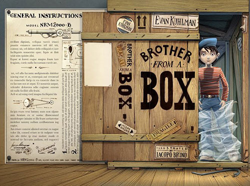 Brother from a box 书籍封面设计