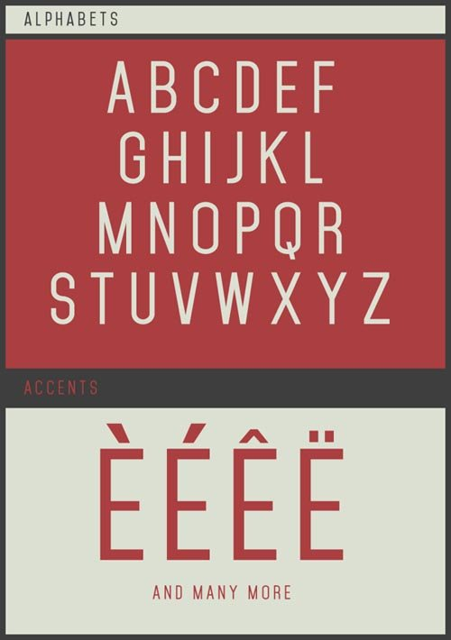 Mohave Free 字体下载