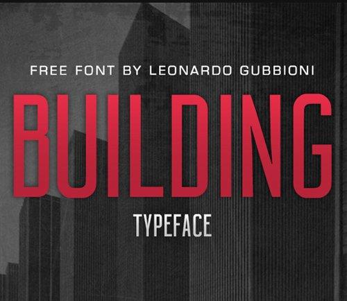 BUILDING Free 字体下载