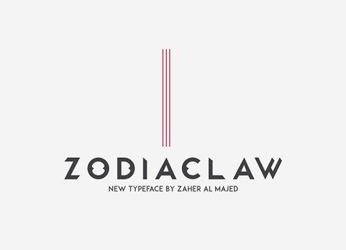 Zodiaclaw Free 字体下载