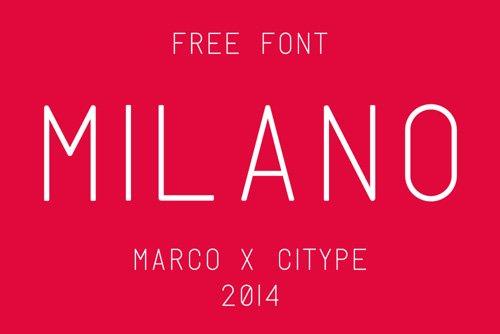 Milano Free 字体下载