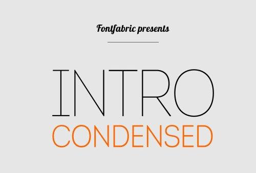 Intro Condensed Free 字体下载