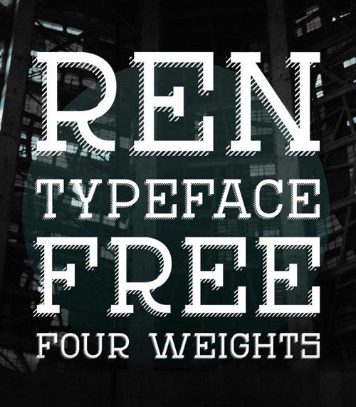 REN Typeface Free 字体下载