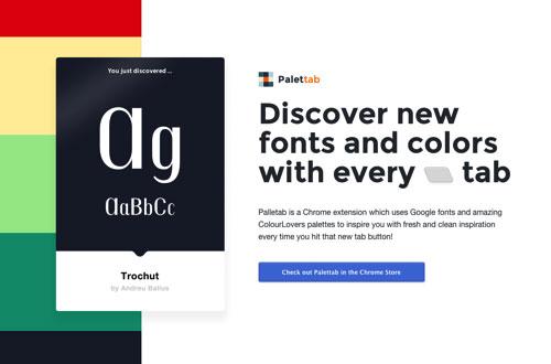 随时获得美丽配色与字体的Chrome扩展 – Palettab