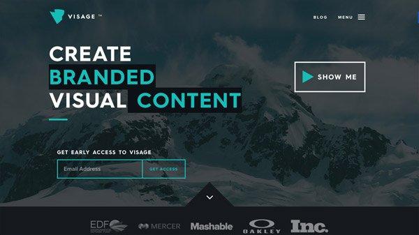Visage 网页设计欣赏