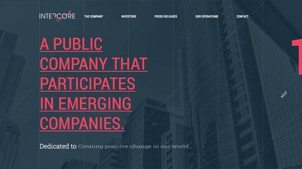 Intercore 网页设计欣赏