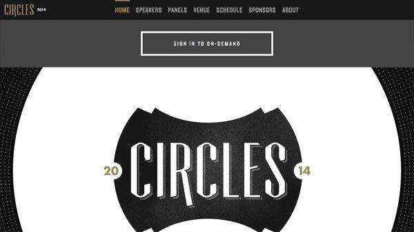 Circles Conference 网页设计欣赏