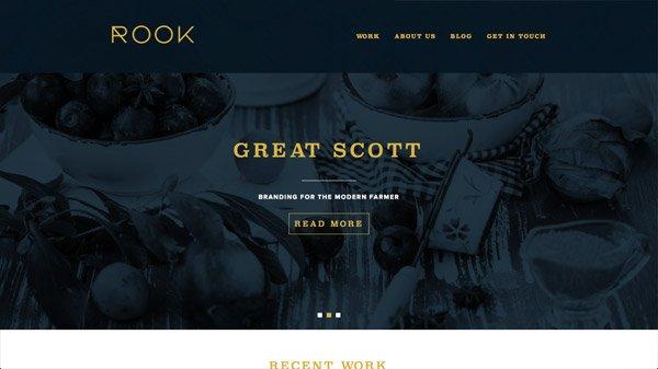 Rook 网页设计欣赏