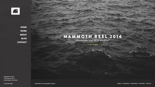 Mammoth Media 网页设计欣赏