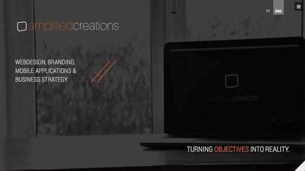 Amplified Creations 网页设计欣赏