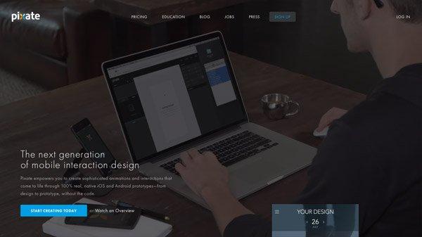 Pixate 网页设计欣赏