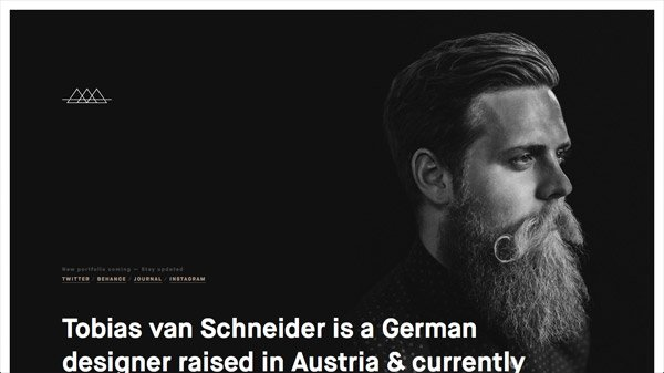 Tobias van Schneider 网页设计欣赏