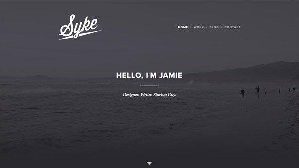 Jamie Syke 网页设计欣赏