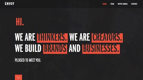 ENVOY 网页设计欣赏