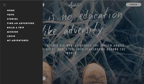20个巧用侧边栏的网页设计作品 - 设计达人