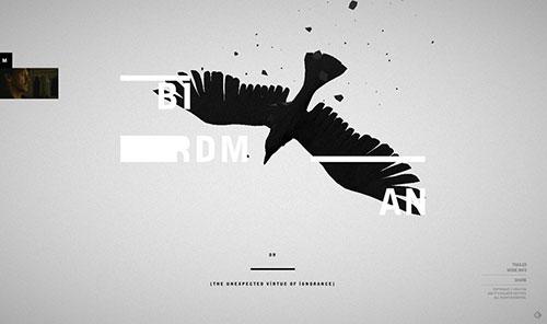 Birdman 网页设计欣赏