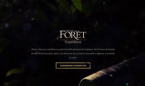 Il était une forêt - l'Expédition 网页设计欣赏