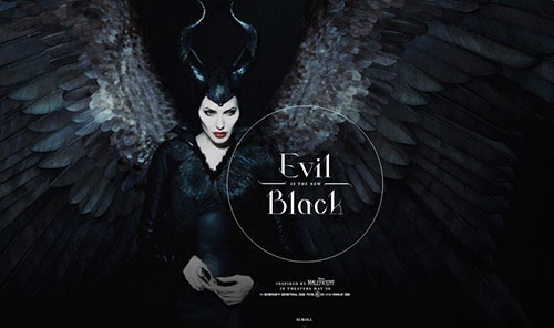 Maleficent Tumblr 网页设计欣赏