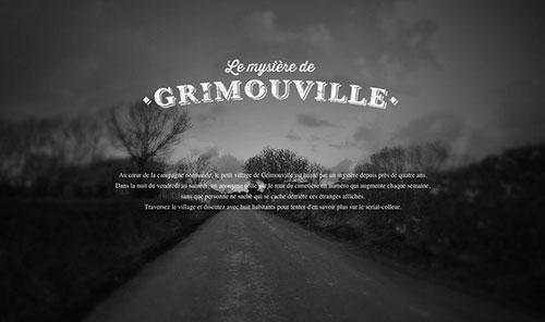 Le Mystère de Grimouville 网页设计欣赏