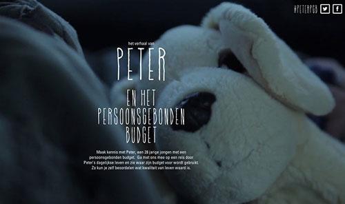 Het verhaal van Peter 网页设计欣赏