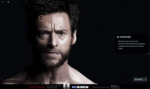 The Wolverine: Unleashed 网页设计欣赏