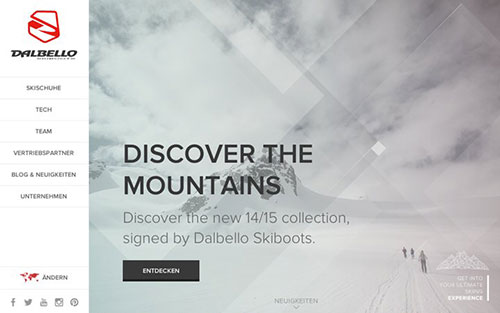 Dalbello 优秀网页设计欣赏