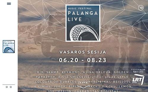 Palanga Live 优秀网页设计欣赏