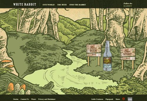 插画 网页设计欣赏