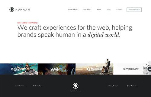 网页设计欣赏:humaan-15
