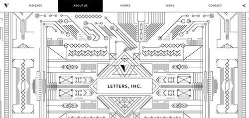 网页设计欣赏:letters-17