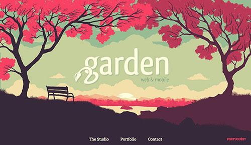 网页设计欣赏:garden-19