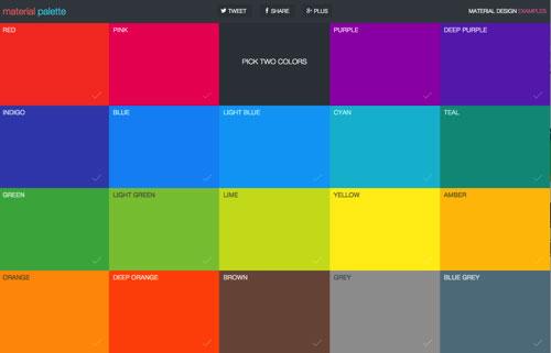Material Design专用在线配色工具