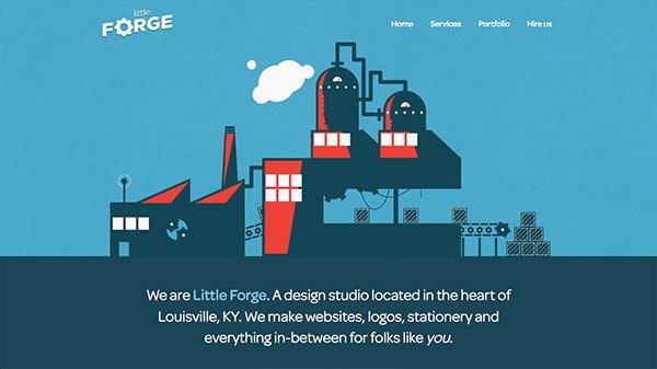 网页设计欣赏:Little Forge