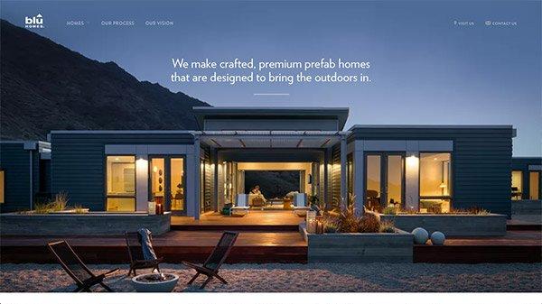 网页设计欣赏:Blu Homes