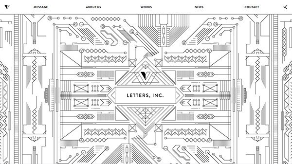 网页设计欣赏:LETTERS, INC.