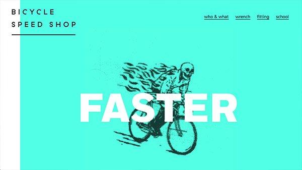 网页设计欣赏:Bicycle Speed Shop