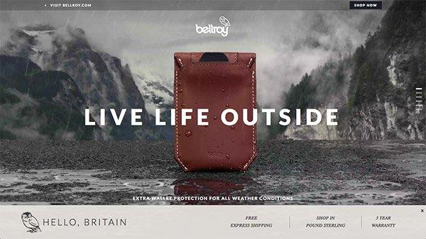 网页设计欣赏:Bellroy