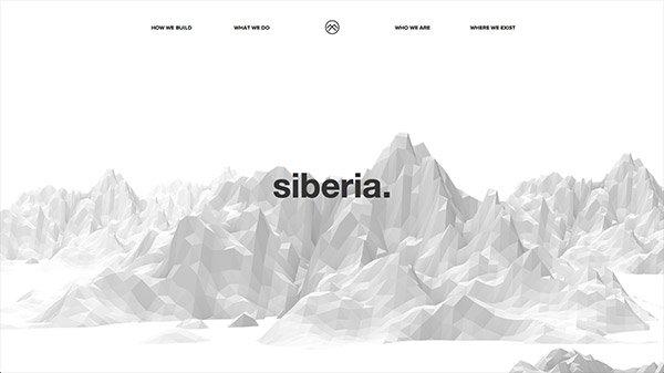 网页设计欣赏:Siberia