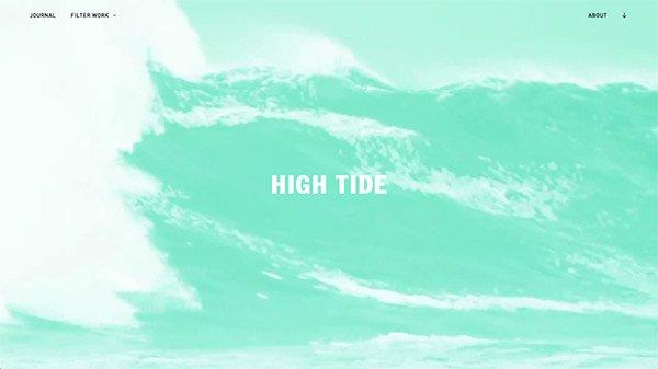 网页设计欣赏:High Tide